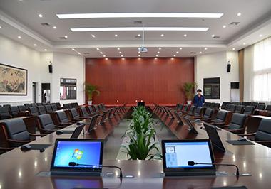 title='黑龍江省某市檢察院無紙化會議總控錄播擴聲系統'